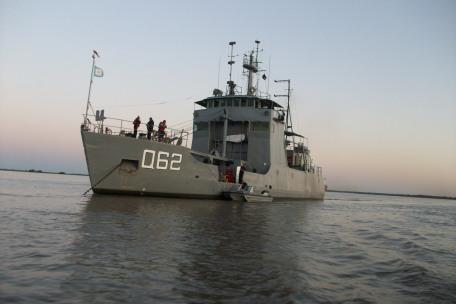 ARA CIUDAD DE ROSARIO-el buque que colaboró con el Museo